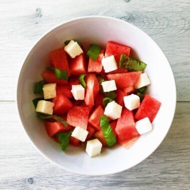 Watermeloen met Feta salade gezond recept afvallen almere