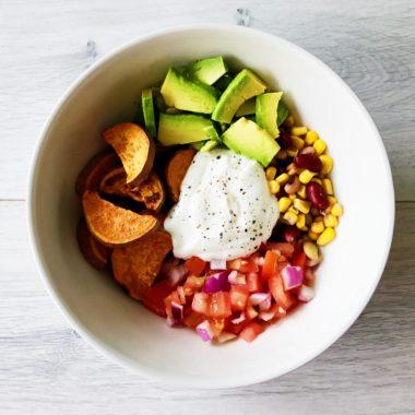 Tex-Mexsalade met zoete aardappel uit de oven gezond recept afvallen almere