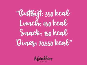 ontbijt lunch diner snack instagram eten dieet afvallen almere quote