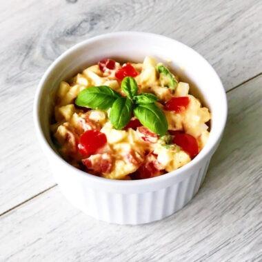 Eiersalade met tomaat en basilicum afvallen almere gezond recept
