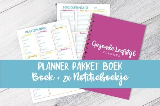 planner pakket boek Gezonde Leefstijl Afvallen Almere Boodschappenlijstje Maaltijdplanner