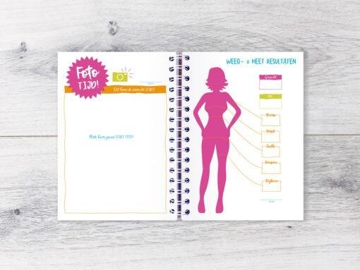 Gezonde Leefstijl planner fit planner fitness gezonde leefstijl afvallen bullet journal gezonde leefstijl planner agenda maaltijdplanner boodschappenlijstje