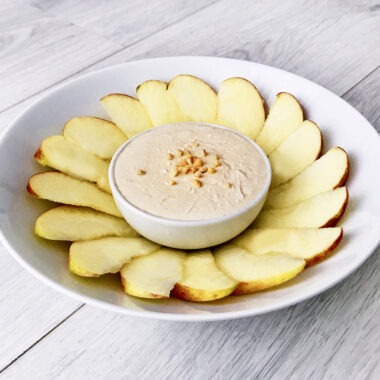 Gezond tussendoortje pindakaas huttenkase dip appel banaan nationale pindakaas dag pindakaaswinkel gezond recept afvallen almere