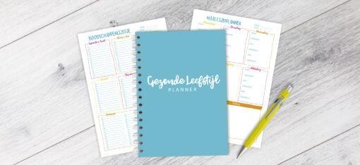 fit planner fitness gezonde leefstijl afvallen bullet journal gezonde leefstijl planner agenda maaltijdplanner boodschappenlijstje