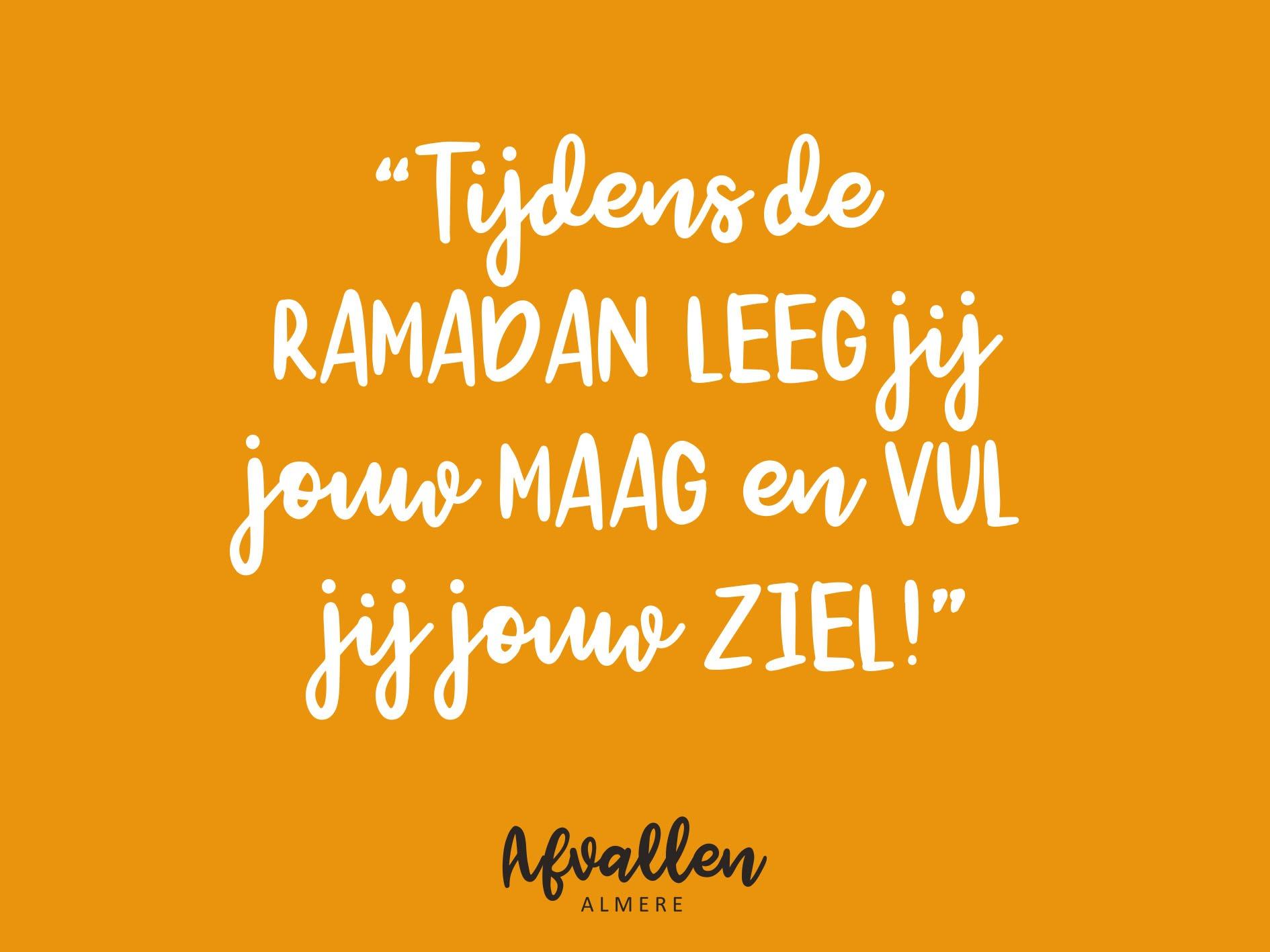 Ramadan quote afvallen almere