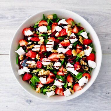 Bietjes salade met geitenkaas en aardbei afvallen almere recept gezond