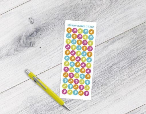 planner bullet journal BUJO stickervellen afvallen gezond leven weightloss stickers stickervel fitness yoga hardlopen tracker water groente fruit genietmomentje