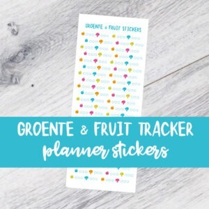 planner bullet journal BUJO stickervellen afvallen gezond leven weightloss stickers stickervel fitness yoga hardlopen tracker water groente fruit genietmomentje