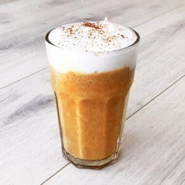 Warme herfst smoothie met appel en pompoen afvallen almere gezond recept