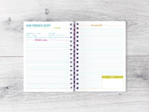 Mijn Favoriete Recepten Invulboek afvallen almere gezonde bullet journal budo plannen