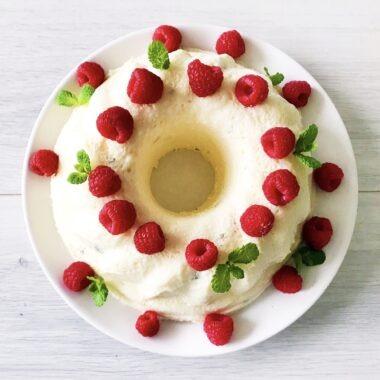 Gezond toetje dessert feestdagen citroenbavarois met frambozen en munt afvallen almere recept