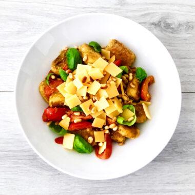 Gnocchi met tomaat , pesto en oude kaas gezond recept afvallen almere