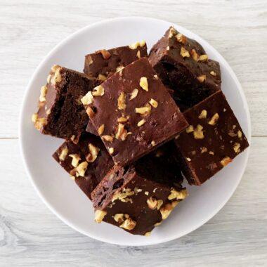 Banaan Brownies met Walnoten afvallen almere tussendoortje gezond recept